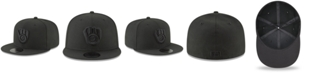 New Era Milwaukee Brewers Blackout 59FIFTY FITTED Cap